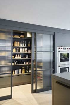 30 Stylish Kitchen Pantry Ideas 2020 (For Cool Kitchen . 30 Stylish Kitchen Pantry Ideas 2020 (For Cool Kitchen) - Dovenda Some of us include a pantry into our kitchen layout. A pantry helps to keep required various items from canned foods to aprons. Kitchen Pantry Doors, Glass Pantry Door, Pantry Cupboard, Kitchen Pantry Design, Kitchen Organization Pantry, Interior Design Kitchen, Kitchen Storage, Pantry Ideas, Kitchen Ideas
