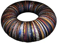 Tyre Cushion made of old ties l Your Home is Lovely: interiors on a budget