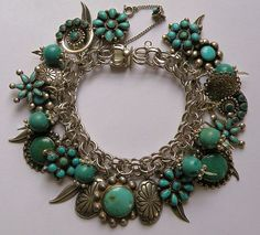 Vintage southwestern charm bracelet