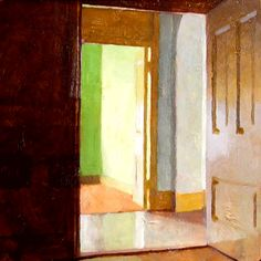 Painting of an interior, great colors, love the geometry  Jon Redmond  329