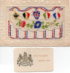 Allied #flags: ww1 embroidered #patriotic silk #postcard,  View more on the LINK: 	http://www.zeppy.io/product/gb/2/122055011947/