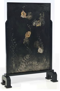 Jean Dunand (1877-1942)  TO FIRE THE FISH TO 1930  Lacquered wood