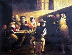 Jesus calling Matthew by Carravagio