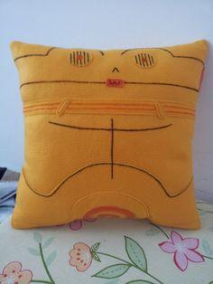 Handmade C-3PO Star Wars Pillow, Cushion, Throw Pillow, Plush, Decorative C-3PO Star Wars Pillow