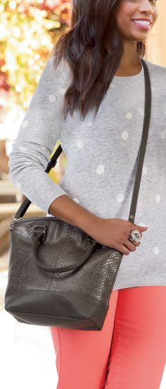Jewell by Thirty-One - Paris in City Charcoal Snake. #ThirtyOneGifts #ThirtyOne #JewellByThirtyOne #Monogramming #Organization #Paris