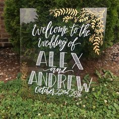 CUSTOM ORDER 20X24 Acrylic Welcome Sign -Details to be uploaded in Note to Seller Section during checkout ________________________________________________________________________________