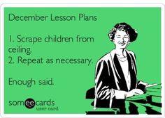 December lesson plans.