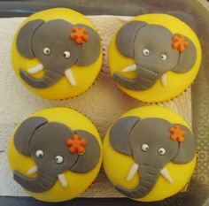 Girly elephant cupcakes-These are also really good but make them look more like a circus elephant