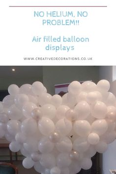 Creative Decorations believe that no party is complete without a balloon. but some venues say no to helium balloons - Air filled balloon displays will help Balloon Decorations Without Helium, Balloon Designs, Balloon Display, Helium Balloons, Creative Decor, Birthday Parties, Study, Create, Amazing
