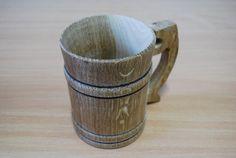 Wooden Mug Wooden Beer Mug 0.5 l 16.9 oz Mug by CarpathiansWood