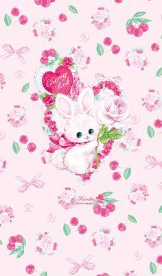 Ideas For Wallpaper Celular Feminino Gato My Melody Wallpaper, Kawaii Wallpaper, Cute Wallpapers, Wallpaper Backgrounds, Rabbit Wallpaper, Easter Wallpaper, Baby Pink Aesthetic, Rabbit Art, Bunny Art