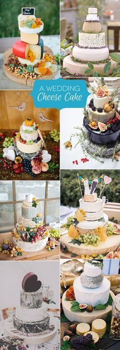 An Alternative Cake Idea: Wedding Cheese Cake - Wedding Cake - Mariage Alternative Wedding Cakes, Wedding Cake Alternatives, Cool Wedding Cakes, Wedding Cake Designs, Cheese Wedding Cakes, Cheese Cakes, Rustic Wedding, Diy Wedding, Wedding Day