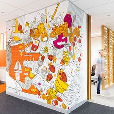 These graphics add life to the space and contribute to the development of brand. Frost* Creates Graphics for CBA Melbourne Office