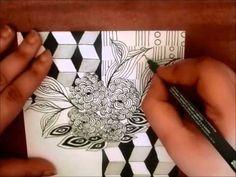 ▶ Zentangle of July Tutorials - YouTube