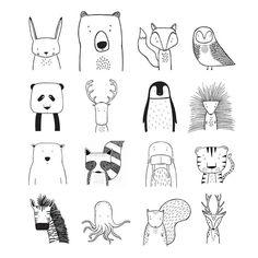 Illustration T H E W I L D Modern apparel for hip kids. by TheWildKidsApparel Doodle Art apparel doodle art Hip Illustration Kids Modern thewildkidsapparel Tier Doodles, Cute Doodles, Animal Doodles, Doodle Drawings, Small Drawings, Simple Doodles Drawings, Doodle Sketch, Art For Kids, Illustration Art