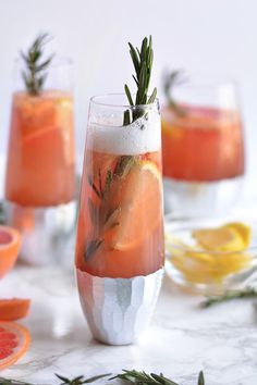 We can't wait to try this bubbly grapefruit sangria for a festive brunch cocktail.
