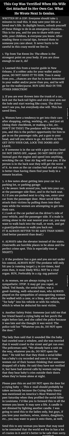 This Cop Is Terrified Was When His Wife Got Attacked In Her Own Car. What He Wrote Next Is Genius.