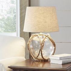 The Highgate Glass Table Lamp at Birch Lane. New England Decor, Rope Lamp, Diy Light Fixtures, Classic Lighting, I Love Lamp, Traditional Lighting, Beach House Decor, Home Decor, Types Of Lighting