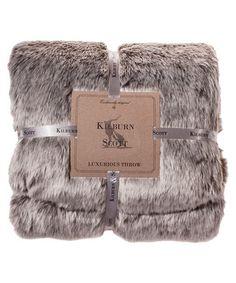 Chocolate faux fur throw 130cmx 170cm Sale - Kilburn And Scott Sale