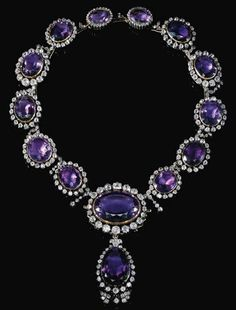Amethyst and diamond necklace  Formerly in the collection of the Princes of Bavaria