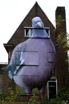Mural by Dutch artist, Super A, selected by the public in a Dutch broadcasting company competition, as best illegal street piece.