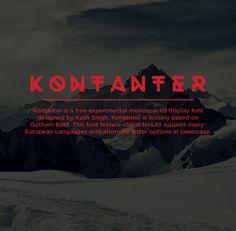 Kontanter free experimental geometric font