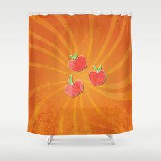 my grunge little pony.. apple jack Shower Curtain by studiomarshallarts - $68.00