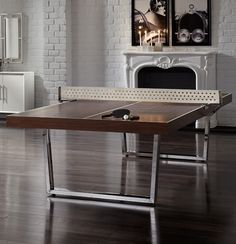 Mitchell Gold + Bob Williams, best ping pong table ever Best Ping Pong Table, Ping Pong Room, Mitchell Gold, Amazing Spaces, Table Games, Home Living Room, Decoration, Home Furnishings, House Design