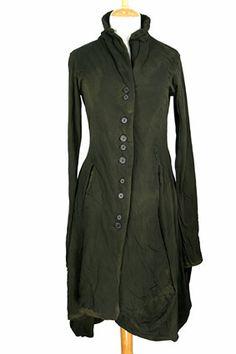 Rundholz forest green jacket shirtdress