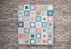 Square Dance Quilt + Tutorial! | Fabric: Midsummer Meadow by Katherine Lenius for Riley Blake Designs Layer Cake Quilt Patterns, Layer Cake Quilts, Modern Quilt Blocks, Modern Quilting, Square Dance, How To Finish A Quilt, Project Ideas, Projects, Girls Quilts
