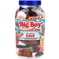 Personalised BIG BOY Retro Sweet Jar  from Personalised Gifts Shop - ONLY £24.95