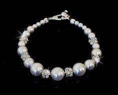 Wedding Bridal White Swarovski Pearls and by OliniBridalJewelry, $32.00