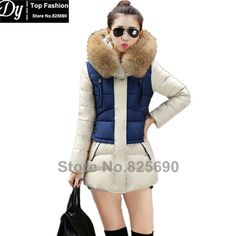 New Padded Winter Jacket Women Cotton Women's Winter Jacket Fashion Slim Plus Size Parkas Hooded With Fake Fur Coat Casacos