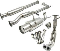 4 Car Option Catback Exhaust System w/ Headers for Honda Accord - UltraRev.com