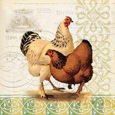 Chickens  Cross stitch pattern pdf format by diana70 on Etsy, $6.50