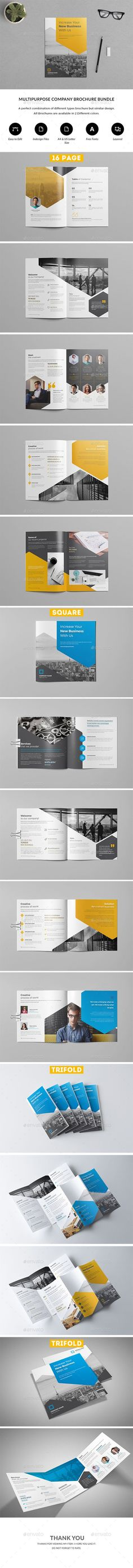 Company Profile Brochure Bundle Company Profile Template, Page Number, Corporate Brochure, Minimal Design, Brochure Template, Infographic, Morning Person, Templates, Minimalist Design