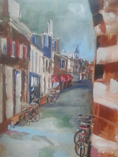 Amersfoort, Krommestraat - acryl ( Diana Mol, nov. 14 )