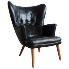 Fantastic Danish Leather Wingback Chair in the Manner of Peder Moos Vintage Home Decor, Vintage Furniture, Cool Furniture, Modern Furniture, Leather Wingback Chair, Wingback Chairs, Accent Chairs For Living Room, Occasional Chairs, Cool Chairs