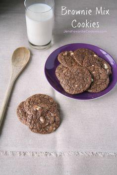 Brownie Mix Cookies from JensFavoriteCookies.com