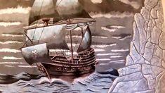 Барельеф своими руками корабль со скалами из гипса