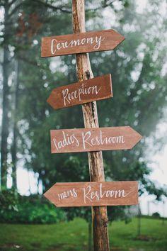 wooden wedding sign // photo by Shane Shepherd // http://ruffledblog.com/byron-bay-farm-wedding