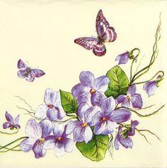 4x Single Luxury Paper Napkins for Decoupage, Craft Vintage Purple Butterfly in Crafts, Cardmaking & Scrapbooking, Decoupage | eBay