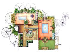 Marker Rendering Repin Like Listen To Noelito Flow Songs Noel Landscape Design PlansLandscape Architecture