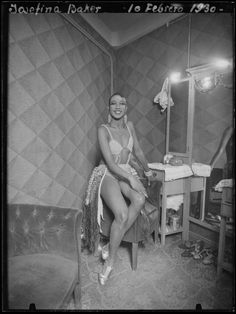 """""""Josephine Baker, American singer, dancer and actress. During World War II, Josephine Baker served with the French Red Cross and was an active member of the French resistance movement. Using her career as a cover Baker became an intelligence agent. She was awarded the  Croix de Guerre, and received a Medal of the Resistance in 1946."""""""