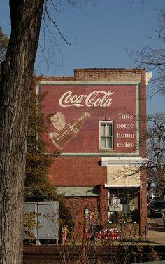 Coca-cola mural in Orange, VA
