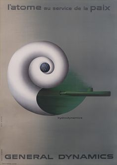 Erik Nitsche Poster: General Dynamics - Hydrodynamics