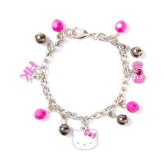Hello Kitty Bows and Beads Charm Bracelet $9.50 claires.com