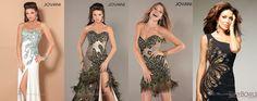 выпускные платья с перьями