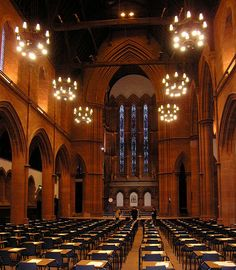 University of Strathclyde - Barony Hall. I had to include this picture. This was the exam hall that I sat many of my uni exams in. As if exams aren't nerve wracking enough, walking into this amazing hall just takes your breath away. Scotland Kilt, Scotland Uk, Glasgow Scotland, Edinburgh, University Of Strathclyde Glasgow, Glasgow University, Scottish Castles, Amazing Buildings, Study Abroad