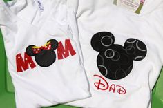 Super cute Mom/Dad shirts, but I don't think Anthony would go for it.